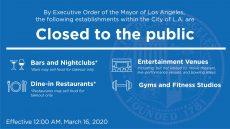 closures Los Angeles
